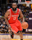 Feb 19, 2014, Houston Rockets vs Los Angeles Lakers - James Harden Fotografiskt tryck av Andrew Bernstein