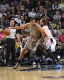 Feb 28, 2014, Charlotte Bobcats vs San Antonio Spurs - Tim Duncan Photographic Print by D. Clarke Evans