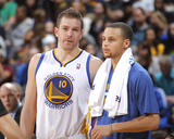 Mar 18, 2014, Orlando Magic vs Golden State Warriors - David Lee, Stephen Curry Photo by Rocky Widner