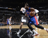 Feb 26, 2014, Detroit Pistons vs San Antonio Spurs - Andre Drummond Photographic Print by D. Clarke Evans