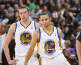 Mar 18, 2014, Orlando Magic vs Golden State Warriors - Stephen Curry, David Lee Photo by Rocky Widner