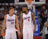 Feb 12, 2014, Portland Trail Blazers vs Los Angeles Clippers - Blake Griffin, DeAndre Jordan Photographic Print by Noah Graham