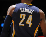 Jan 25, 2014, Indiana Pacers vs Denver Nuggets - Paul George Photographic Print by Bart Young