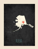 Alaska Personalized State Map (includes stickers) Posters by Rebecca Peragine