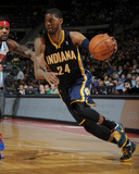 Mar 15, 2014, Indiana Pacers vs Detroit Pistons - Paul George Photographic Print by Allen Einstein