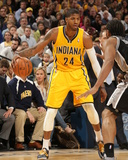 Mar 31, 2014, San Antonio Spurs vs Indiana Pacers - Paul George Photographic Print by Ron Hoskins