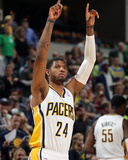 Mar 17, 2014, Philadelphia 76ers vs Indiana Pacers - Paul George Photographic Print by Ron Hoskins