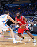 Apr 24, 2013, Houston Rockets vs Oklahoma City Thunder (Game Two) - James Harden Photographic Print by Layne Murdoch