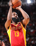 Mar 29, 2014, Los Angeles Clippers vs Houston Rockets - James Harden Photographic Print by Bill Baptist