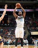 Feb 21, 2014, New Orleans Pelicans vs Charlotte Bobcats - Al Jefferson Photographic Print by Brock Williams-Smith