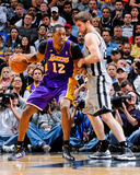 Apr 24, 2013, Los Angeles Lakers vs San Antonio Spurs (Game Two) - Dwight Howard, Tiago Splitter Photo by D. Clarke Evans
