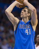 Mar 16, 2014, Dallas Mavericks vs Oklahoma City Thunder - Dirk Nowitzki Photographic Print by Richard Rowe
