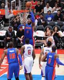 Mar 22, 2014, Detroit Pistons vs Los Angeles Clippers - Andre Drummond Reproduction photographique par Andrew Bernstein