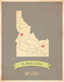 Idaho My Roots Map, clay version (includes stickers) Posters by Rebecca Peragine
