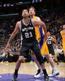 Mar 14, 2014, San Antonio Spurs vs Los Angeles Lakers - Tim Duncan, Pau Gasol Photo by Andrew Bernstein