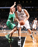 Dec 10, 2013, Boston Celtics vs Brooklyn Nets - Brook Lopez, Kris Humphries Photographic Print by Nathaniel S. Butler