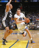 Mar 22, 2014, San Antonio Spurs vs Golden State Warriors - David Lee, Boris Diaw Photographic Print by Rocky Widner