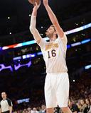 Mar 9, 2014, Oklahoma City Thunder vs Los Angeles Lakers - Pau Gasol Photographic Print by Noah Graham