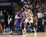Feb 26, 2014, Detroit Pistons vs San Antonio Spurs - Tim Duncan Photographic Print by D. Clarke Evans