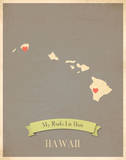My Roots Hawaii State Map - clay Prints by Rebecca Peragine