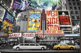 New York-Theatre Stretched Canvas Print
