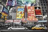 Nueva York - Teatro Reproducción en lienzo de la lámina