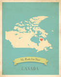 Canada My Roots Map, blue version (includes stickers) Prints by Rebecca Peragine