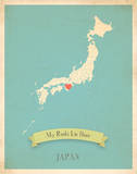 My Roots Japan Map - blue Poster by Rebecca Peragine