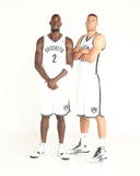 2013-2014 Brooklyn Nets Media Day - Kevin Garnett, Brook Lopez Photographic Print by Nathaniel S. Butler
