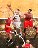 May 4, 2013, Chicago Bulls vs Brooklyn Nets (Game Seven) - Joakim Noah, Brook Lopez Photo by Nathaniel S. Butler