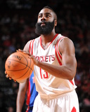 Mar 1, 2014, Detroit Pistons vs Houston Rockets - James Harden Photographic Print by Bill Baptist