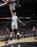 Mar 29, 2014, New Orleans Pelicans vs San Antonio Spurs - Tim Duncan Photographic Print by D. Clarke Evans
