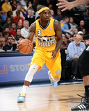 Mar 28, 2014, San Antonio Spurs vs Denver Nuggets - Ty Lawson Photographic Print by Garrett Ellwood
