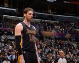 Feb 28, 2014, Sacramento Kings vs Los Angeles Lakers - Pau Gasol Photographic Print by Evan Gole
