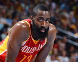 Apr 6, 2013, Houston Rockets vs Denver Nuggets - James Harden Photographic Print by Garrett Ellwood