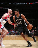 Feb 5, 2014, San Antonio Spurs vs Washington Wizards - Tim Duncan Photographic Print by Ned Dishman