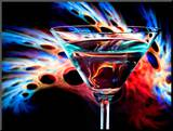 The Bar at the End of the Universe 1 Mounted Print by Ursula Abresch