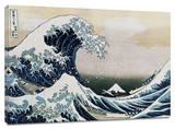 La gran ola Reproducción en lienzo de la lámina por Katsushika Hokusai