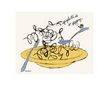 Spaghetti is So Slippery, c. 1958 Print by Andy Warhol