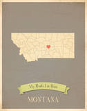 Montana My Roots Map, clay version (includes stickers) Poster by Rebecca Peragine