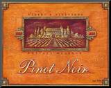 Pinot Vineyard Mounted Print by Angela Staehling