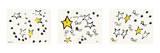 Andy Warhol - So Many Stars, c. 1958 (triptych) Obrazy