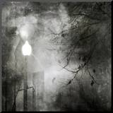 To Walk at Night Mounted Print by Ursula Abresch