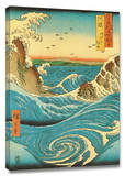 Navaro Rapids Stretched Canvas Print by Ando Hiroshige