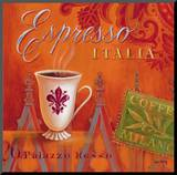 Espresso Italia Mounted Print by Angela Staehling