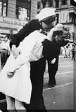 Beso de despedida a la guerra Reproducción en lienzo de la lámina