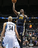 Apr 15, 2013, Utah Jazz vs Minnesota Timberwolves - Al Jefferson Photographic Print