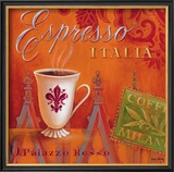Espresso Italia Framed Giclee Print by Angela Staehling
