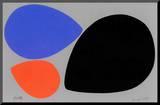 Birth/Black, Orange and Blue Eggs Mounted Print by Jerry Kott