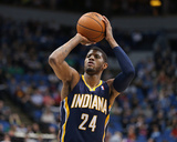 Feb 19, 2014, Indiana Pacers vs Minnesota Timberwolves - Paul George Photographic Print
